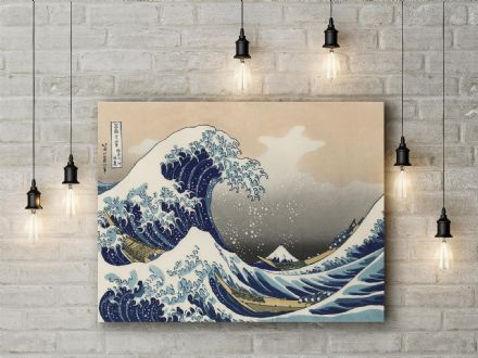 Katsushika Hokusai: The Great Wave of Kanagawa. Japanese Seascape. Fine Art Canvas.